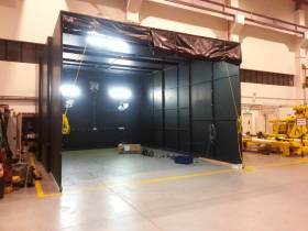 Custom Fabrication: MPI Dark Room for MPI Testing
